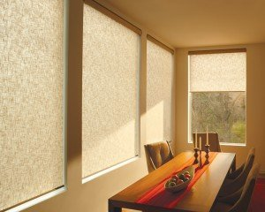 New roller shades in your dining room