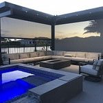 elegant outdoor motorized screen